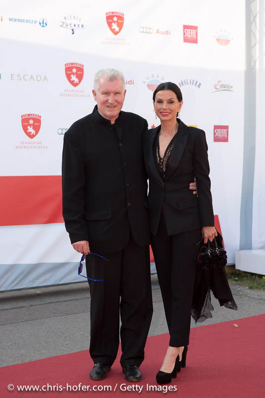 VIENNA, AUSTRIA - JUNE 26: Sonja Klima and entourage attend the gala event 450 years Spanische Hofreitschule on June 26, 2015 in Vienna, Austria.  (Photo by Chris Hofer/Getty Images)