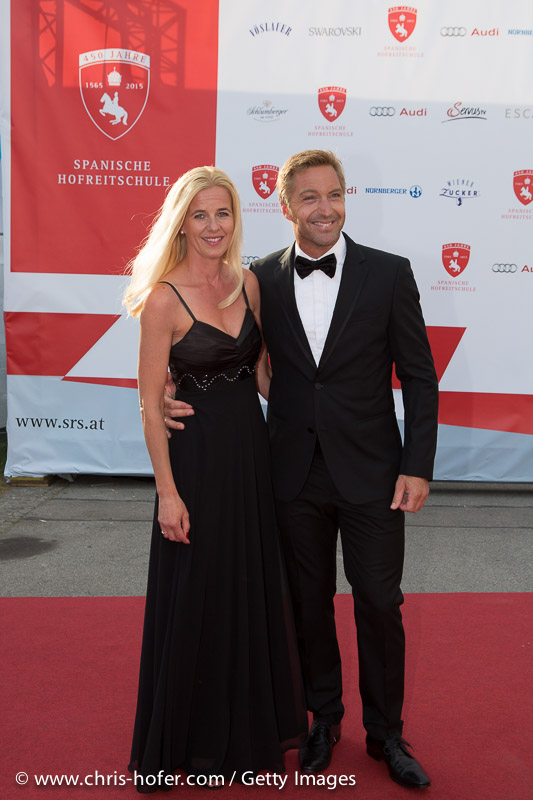 VIENNA, AUSTRIA - JUNE 26: Hans Knauss with his wife Barbara attend the gala event 450 years Spanische Hofreitschule on June 26, 2015 in Vienna, Austria.  (Photo by Chris Hofer/Getty Images)