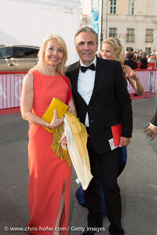 VIENNA, AUSTRIA - JUNE 26: Uschi Poettler-Fellner with entourage attend the gala event 450 years Spanische Hofreitschule on June 26, 2015 in Vienna, Austria.  (Photo by Chris Hofer/Getty Images)