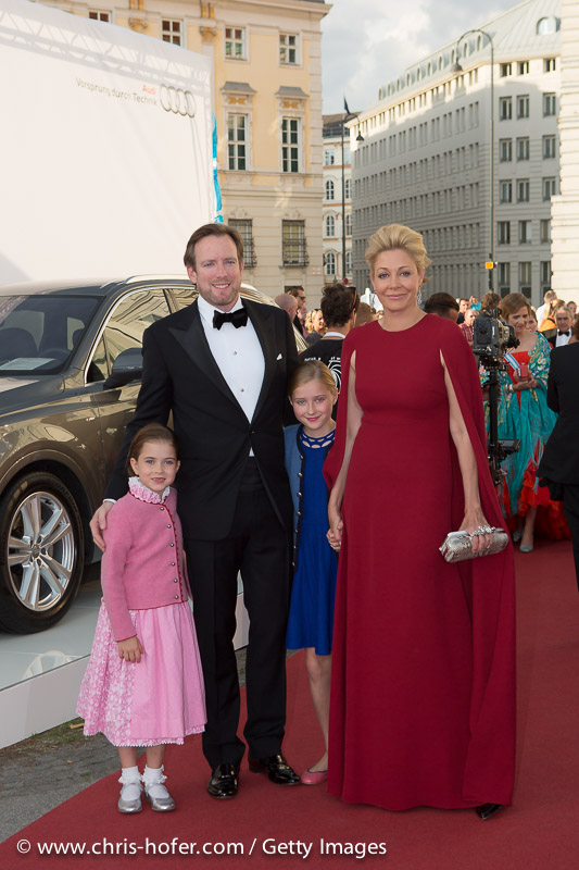 VIENNA, AUSTRIA - JUNE 26: Nadja Swarovski, Rupert Adams and family attend the gala event 450 years Spanische Hofreitschule on June 26, 2015 in Vienna, Austria.  (Photo by Chris Hofer/Getty Images)