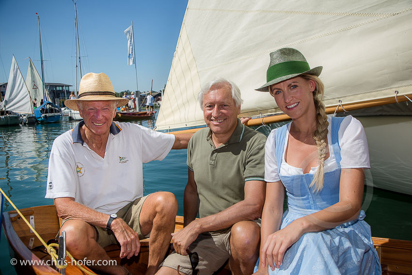 Gössl Lateiner Regatta Mattsee 27.08.2016 Foto: Chris Hofer Fotografie & Film, www.chris-hofer.com, Bild zeigt: Hubert Raudaschl, Gerhard Gössl, Christina Rettenbacher