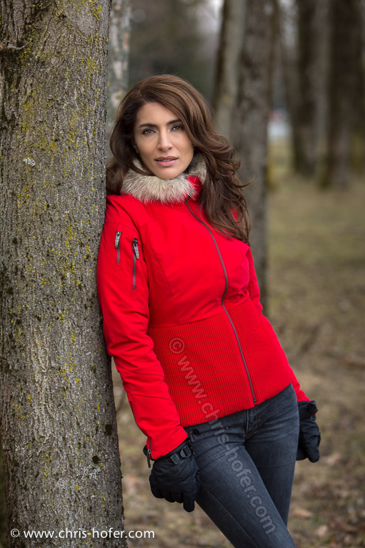 Fotoshooting mit Bond-Girl Caterina Murino, Foto: Chris Hofer