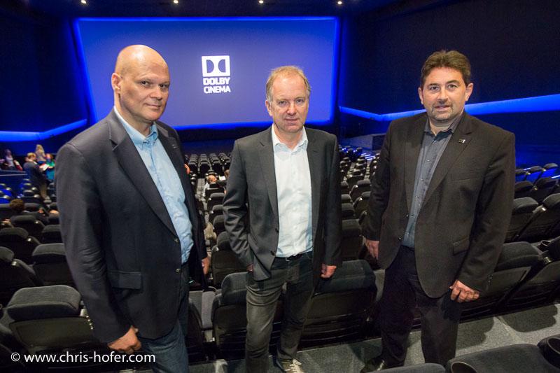 Cineplexx Salzburg Airport Pressekonferenz Dolby Cinema 2016-06-29, Foto: Cineplexx/Chris Hofer, Bild zeigt: Andreas Spechtler, Christian Langhammer