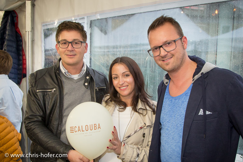 Eröffnung Calouba California Restaurant Thalgau, 2015-05-21, Foto: Chris Hofer, Bild zeigt: Gerald Stadler, Susanna Lazic, Harry Albel