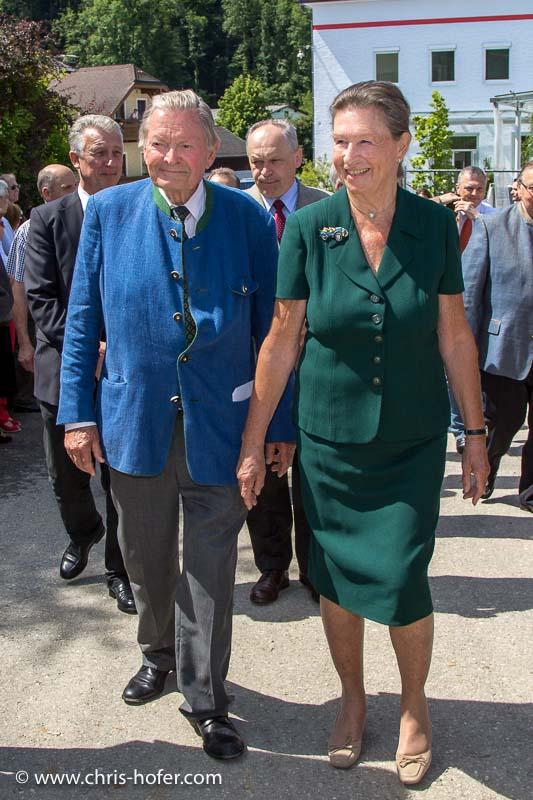 Eröffnung Fahrtraum Mattsee, 2013-06-15; Foto: Franz Neumayr; im Bild (v.l.): Ernst Piech, Elisabeth Piech