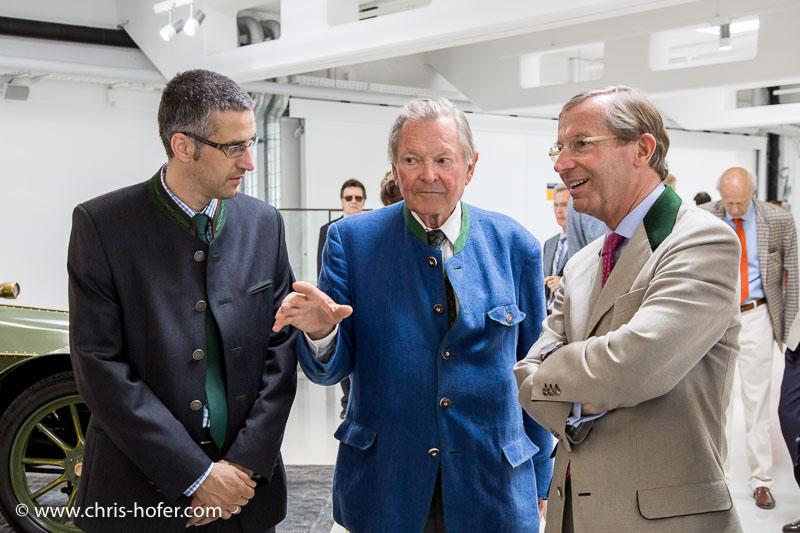 Eröffnung Fahrtraum Mattsee, 2013-06-15; Foto: Chris Hofer; Bild zeigt: Bgm. Rene Kuel, Ernst Piech, LH-Stv. Wilfried Haslauer