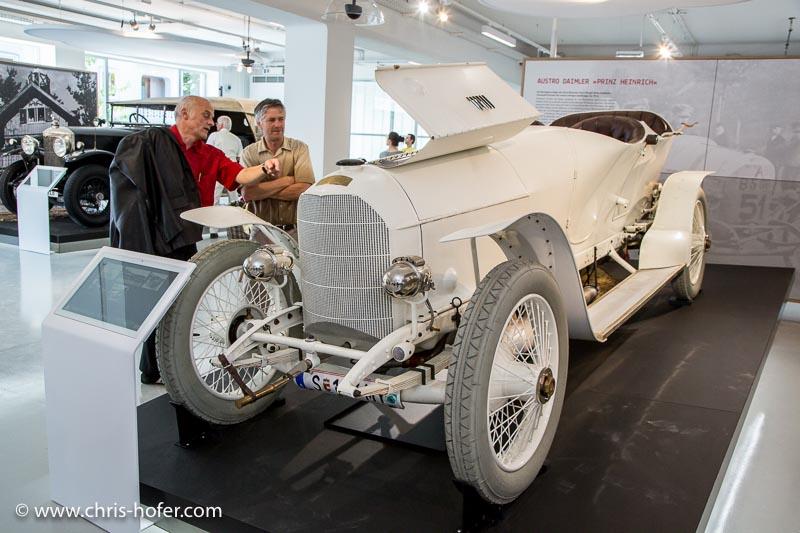 """Eröffnung Fahrtraum Mattsee, 2013-06-15; Foto: Chris Hofer; Bild zeigt: Austro Daimler """"Prinz Heinrich"""", Bj. 1910"""