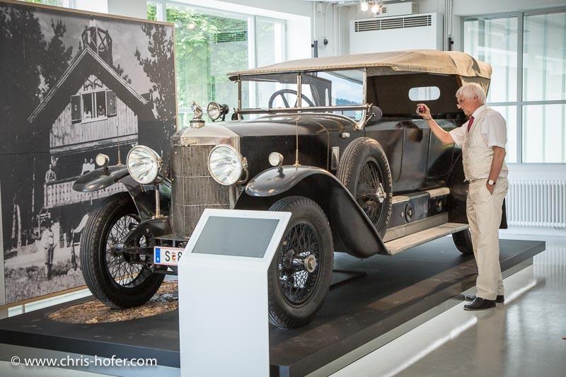 """Eröffnung Fahrtraum Mattsee, 2013-06-15; Foto: Chris Hofer; Bild zeigt: Austro Daimler AD 617 """"Jagdwagen"""", Bj. 1923"""