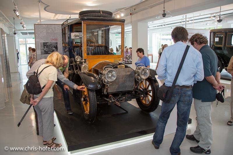 Eröffnung Fahrtraum Mattsee, 2013-06-15; Foto: Chris Hofer; Bild zeigt: Austro Daimler 28/32, Bj. 1908