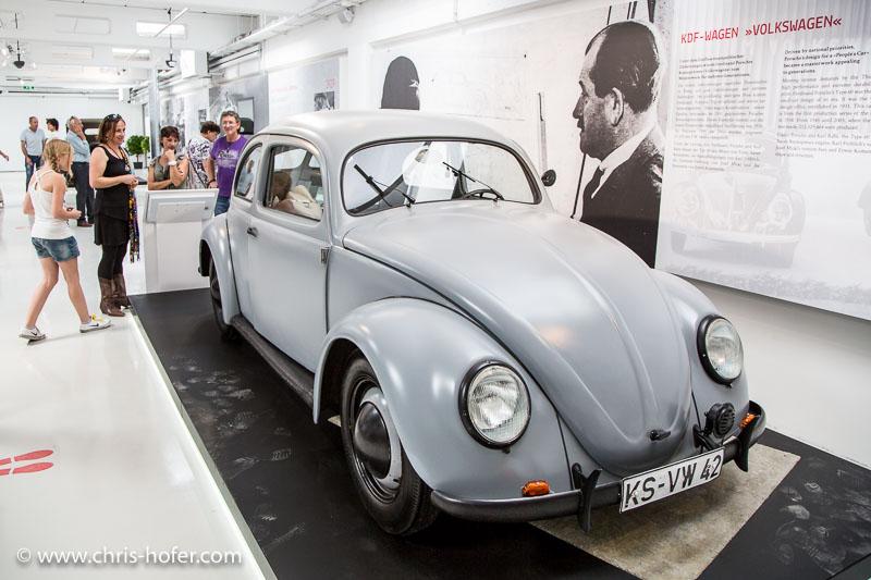 """Eröffnung Fahrtraum Mattsee, 2013-06-15; Foto: Chris Hofer; Bild zeigt: KDF-Wagen """"Volkswagen"""""""