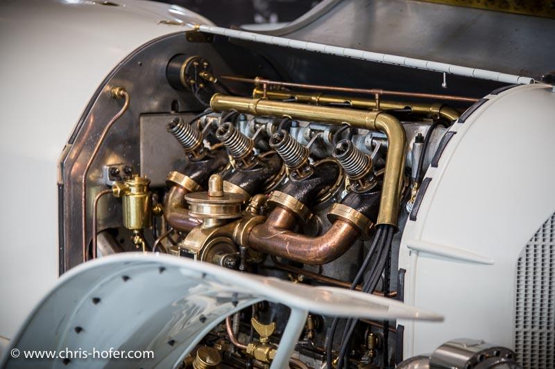 """Eröffnung Fahrtraum Mattsee, 2013-06-15; Foto: Chris Hofer; Bild zeigt: Motor des Austro Daimler """"Prinz Heinrich"""", Bj. 1910"""