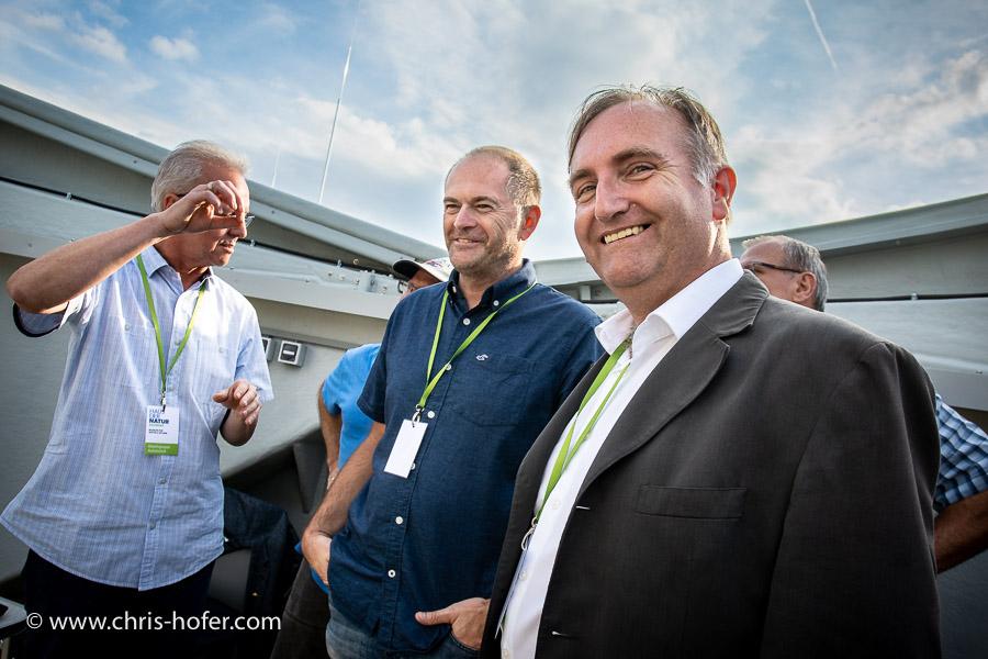 Eröffnung VEGA Sternwarte Haunsberg 11.08.2018 Foto: Chris Hofer, Bild zeigt: Helmut Windhager (Leiter Arbeitsgruppe Astronomie, 1.v.r.), www.chris-hofer.com