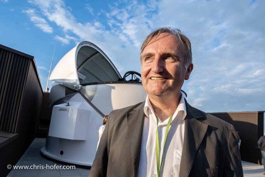 Eröffnung VEGA Sternwarte Haunsberg 11.08.2018 Foto: Chris Hofer, Bild zeigt: Helmut Windhager (Leiter Arbeitsgruppe Astronomie), www.chris-hofer.com