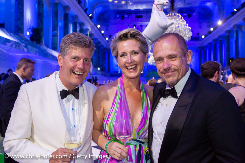 VIENNA, AUSTRIA - JUNE 29: Karl Hohenlohe, Martina Hohenlohe, Gery Keszler during the Fete Imperiale 2018 on June 29, 2018 in Vienna, Austria. (Photo by Chris Hofer/Getty Images) *** Local Caption *** Karl Hohenlohe; Martina Hohenlohe; Gery Keszler