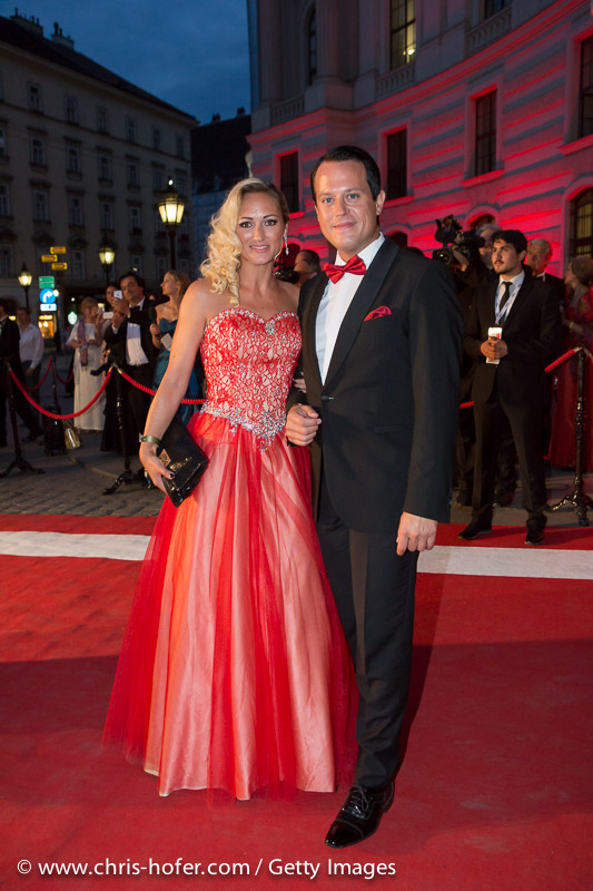 VIENNA, AUSTRIA - JUNE 26: Gregor Glanz and Daniela Hentze attend the Fete Imperiale 2015 on June 26, 2015 in Vienna, Austria.  (Photo by Chris Hofer/Getty Images)