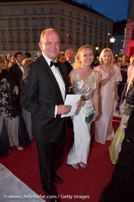 VIENNA, AUSTRIA - JUNE 26: Herbert Prohaska with entourage attend the Fete Imperiale 2015 on June 26, 2015 in Vienna, Austria.  (Photo by Chris Hofer/Getty Images)