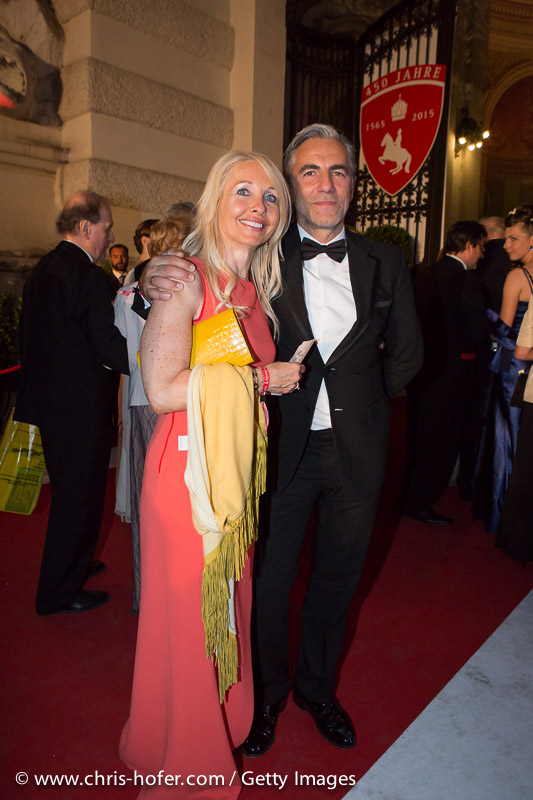 VIENNA, AUSTRIA - JUNE 26: Uschi Poettler-Fellner with entourage attend the Fete Imperiale 2015 on June 26, 2015 in Vienna, Austria.  (Photo by Chris Hofer/Getty Images)