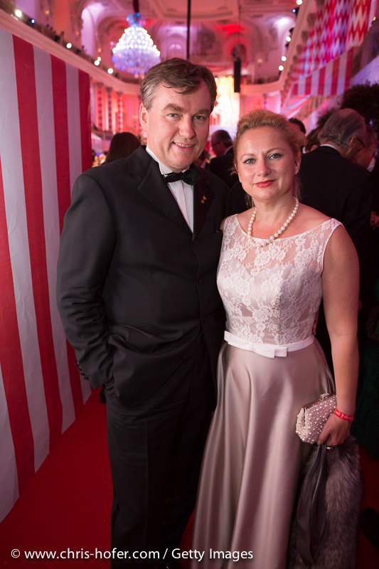 VIENNA, AUSTRIA - JUNE 26: Toni Moerwald with his wife Eva attend the Fete Imperiale 2015 on June 26, 2015 in Vienna, Austria.  (Photo by Chris Hofer/Getty Images)
