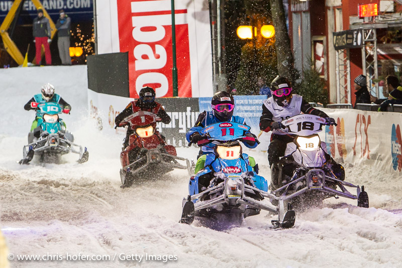 SAALBACH-HINTERGLEMM, AUSTRIA - DECEMBER 05:   Snow mobile action during the third and final day of the Formula Snow 2015 ski opening on December 5, 2015 in Saalbach-Hinterglemm, Austria.  (Photo by Chris Hofer/Getty Images)