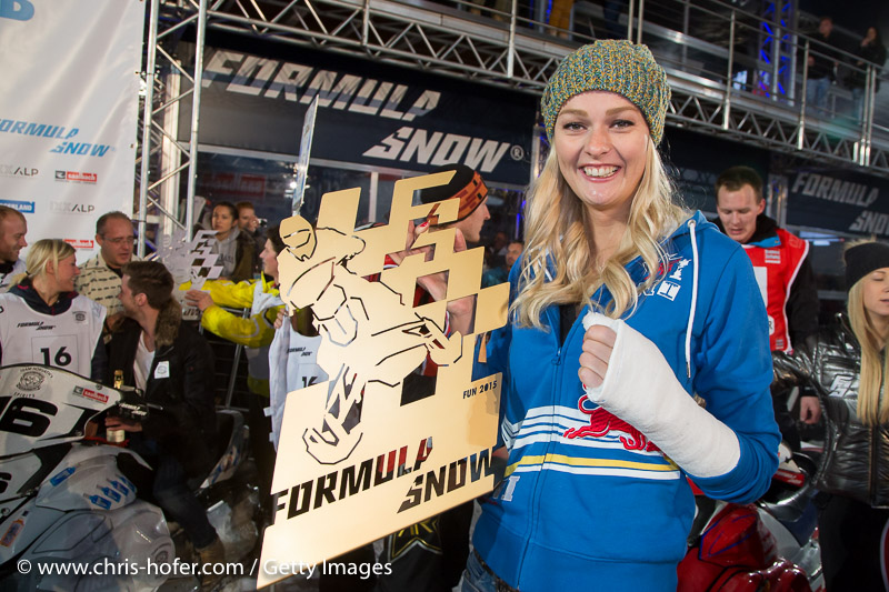 SAALBACH-HINTERGLEMM, AUSTRIA - DECEMBER 05:   Miriam Hoeller during the third and final day of the Formula Snow 2015 ski opening on December 5, 2015 in Saalbach-Hinterglemm, Austria.  (Photo by Chris Hofer/Getty Images)