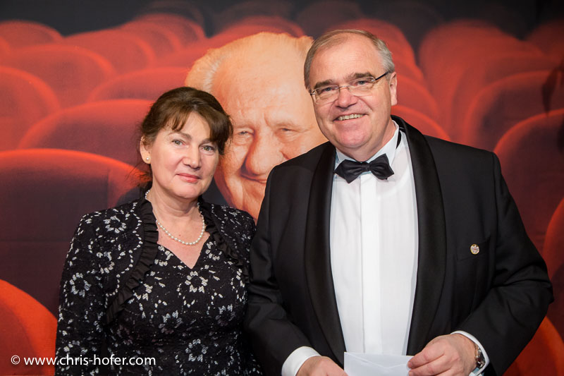 VIENNA, AUSTRIA - MARCH 19: Minister Wolfgang Brandstetter with his wife Christine attend Karl Spiehs 85th birthday celebration on March 19, 2016 in Vienna, Austria. (Photo by Chris Hofer/Getty Images)