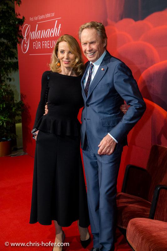 VIENNA, AUSTRIA - MARCH 19: Peter Kraus with his wife Ingrid attend Karl Spiehs 85th birthday celebration on March 19, 2016 in Vienna, Austria. (Photo by Chris Hofer/Getty Images)