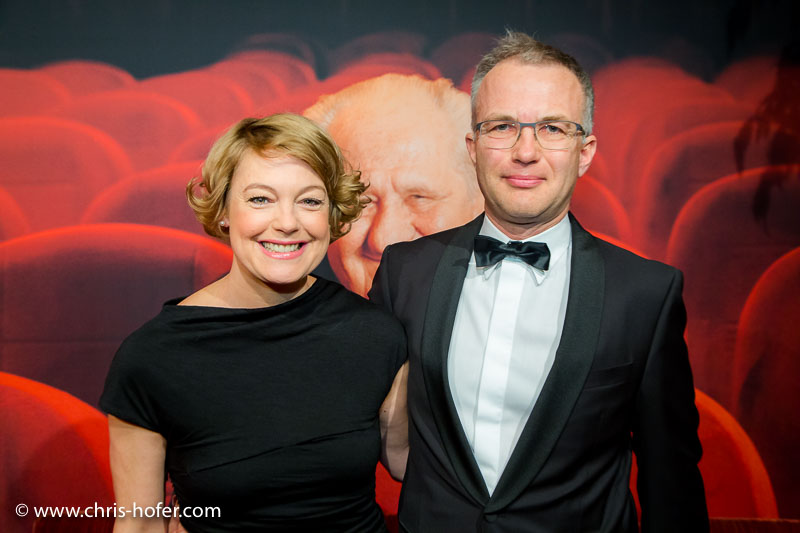 VIENNA, AUSTRIA - MARCH 19: ​Elke Winkens and Bert Ortner attend Karl Spiehs 85th birthday celebration on March 19, 2016 in Vienna, Austria. (Photo by Chris Hofer/Getty Images)