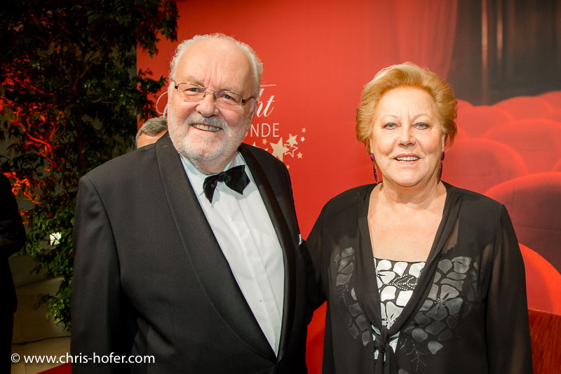 VIENNA, AUSTRIA - MARCH 19: Felix Dvorak and his wife Elisabeth attend Karl Spiehs 85th birthday celebration on March 19, 2016 in Vienna, Austria. (Photo by Chris Hofer/Getty Images)