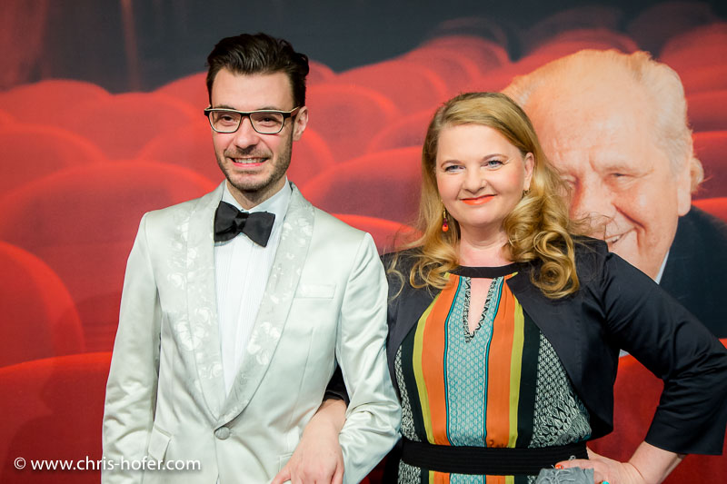 VIENNA, AUSTRIA - MARCH 19: Ulrike Beimpold and Andrei Chitu attend Karl Spiehs 85th birthday celebration on March 19, 2016 in Vienna, Austria. (Photo by Chris Hofer/Getty Images)