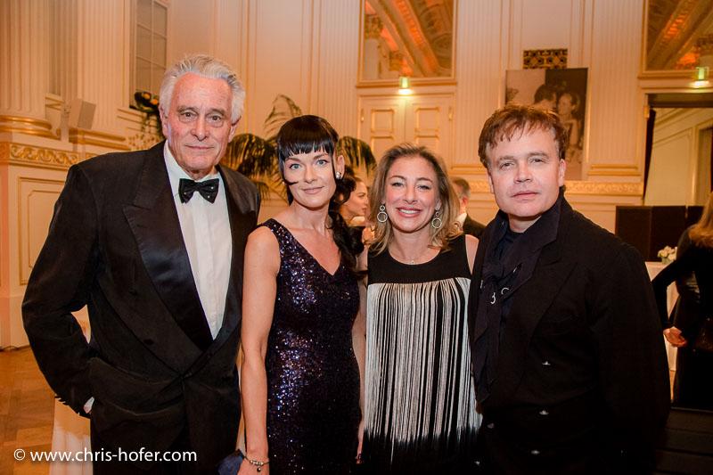 VIENNA, AUSTRIA - MARCH 19: Klaus Wildbolz, Sascha Wussow with entourage attend Karl Spiehs 85th birthday celebration on March 19, 2016 in Vienna, Austria. (Photo by Chris Hofer/Getty Images)