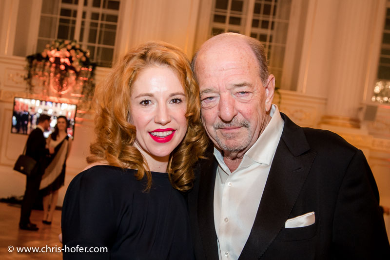 VIENNA, AUSTRIA - MARCH 19: Ralph Siegel and Laura Kaefer attend Karl Spiehs 85th birthday celebration on March 19, 2016 in Vienna, Austria. (Photo by Chris Hofer/Getty Images)