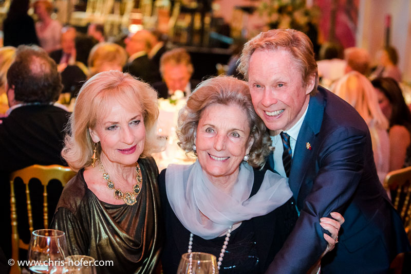 VIENNA, AUSTRIA - MARCH 19: Dagmar Koller, Inge Unzeitig and Peter Kraus attend Karl Spiehs 85th birthday celebration on March 19, 2016 in Vienna, Austria. (Photo by Chris Hofer/Getty Images)