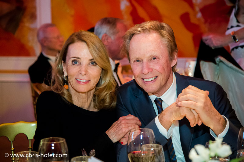 VIENNA, AUSTRIA - MARCH 19: Peter Kraus with his wife Ingrid attend Karl Spiehs 85th birthday celebration on March 19, 2016 in Vienna, Austria. (Photo by Chris Hofer/Getty Images)