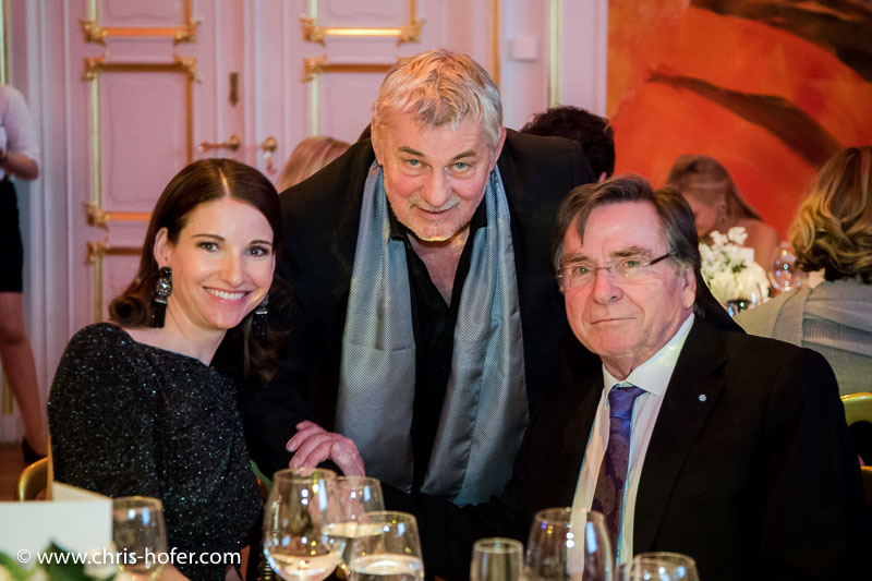 VIENNA, AUSTRIA - MARCH 19: Sophie Wepper, Heinz Hoenig and Elmar Wepper attend Karl Spiehs 85th birthday celebration on March 19, 2016 in Vienna, Austria. (Photo by Chris Hofer/Getty Images) *** Local Caption *** Sophie Wepper; Heinz Hoenig; Elmar Wepper