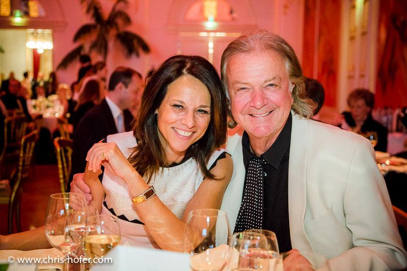 VIENNA, AUSTRIA - MARCH 19: Vera Russwurm with her husband Peter Hofbauer attend Karl Spiehs 85th birthday celebration on March 19, 2016 in Vienna, Austria. (Photo by Chris Hofer/Getty Images)