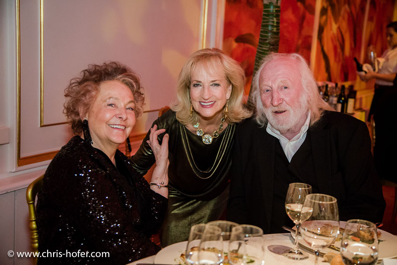 VIENNA, AUSTRIA - MARCH 19: Karl Merkatz with his wife Martha and Dagmar Koller attend Karl Spiehs 85th birthday celebration on March 19, 2016 in Vienna, Austria. (Photo by Chris Hofer/Getty Images)