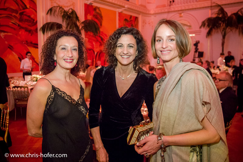 VIENNA, AUSTRIA - MARCH 19: ​Kostanze Breitenebner, Margot Graf and Lara Joy Koerner attend Karl Spiehs 85th birthday celebration on March 19, 2016 in Vienna, Austria. (Photo by Chris Hofer/Getty Images)