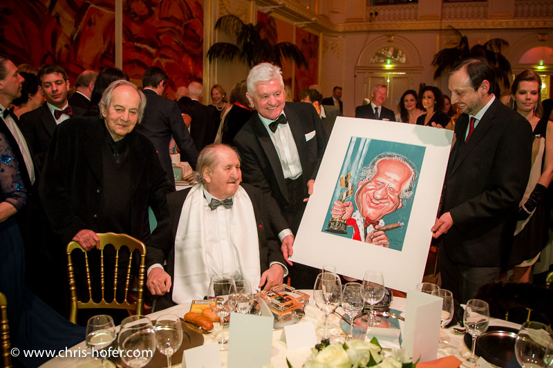 VIENNA, AUSTRIA - MARCH 19: Otto Schenk and other guests attend Karl Spiehs 85th birthday celebration on March 19, 2016 in Vienna, Austria. (Photo by Chris Hofer/Getty Images) *** Local Caption *** Otto Schenk; Karl Spiehs
