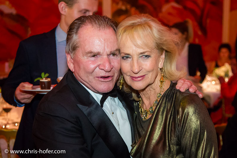 VIENNA, AUSTRIA - MARCH 19: Fritz Wepper and Dagmar Koller attend Karl Spiehs 85th birthday celebration on March 19, 2016 in Vienna, Austria. (Photo by Chris Hofer/Getty Images)