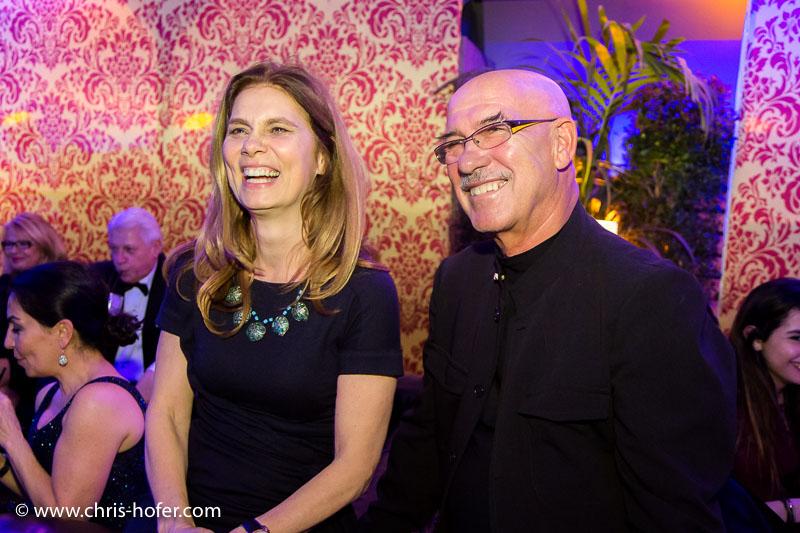 VIENNA, AUSTRIA - MARCH 19: Sarah Wiener and Otto Retzer attend Karl Spiehs 85th birthday celebration on March 19, 2016 in Vienna, Austria. (Photo by Chris Hofer/Getty Images) *** Local Caption *** Sarah Wiener; Otto Retzer