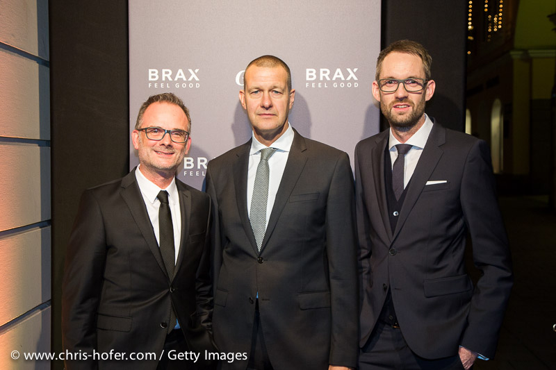 SALZBURG, AUSTRIA - NOVEMBER 19: Florian Becker (BRAX), Nils Schrahe (BRAX), Joachim Beer (BRAX), Timon Bernsmeier (BRAX) and Lars Bultnik (BRAX) attended the Grand Store Opening BRAX In Salzburg on November 19, 2015 in Salzburg, Austria. (Photo by Chris Hofer/Getty Images)