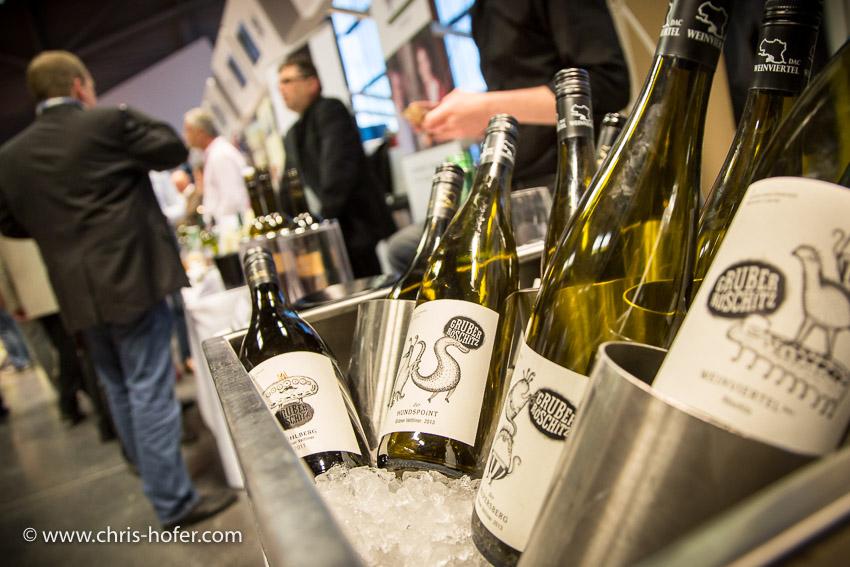 Weinverkostung Wienviertel DAC Terminal 2 Salzburg, 2014-04-09; Foto: Chris Hofer