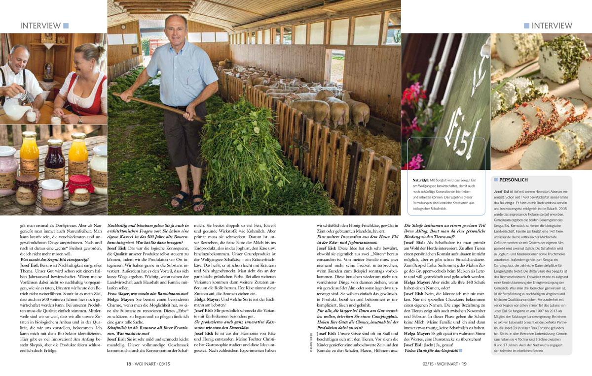 Wohnart Reportage Seegut Eisl Abersee, 2015-08-13, Foto: Chris Hofer